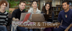photo of West Valley College students in the library