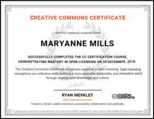 small photo of CC certificate