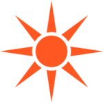illustration of a sun or bulls eye